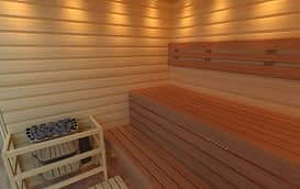 Sauna glass interno